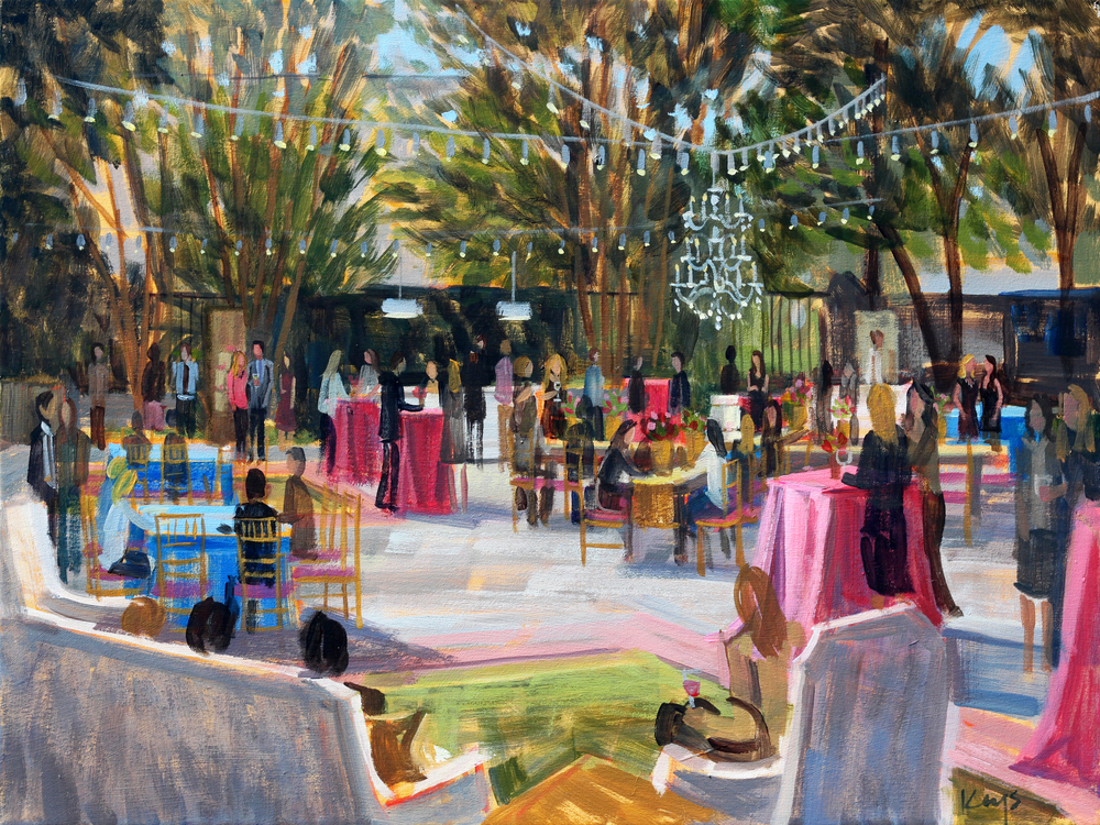 The Knot Market Mixer, 18 x 24 in Acylic on Canvas